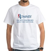Anti-Romney: Very Poor White T-Shirt