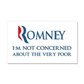 Anti-Romney: Very Poor Car Magnet 20 x 12