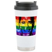 LGBT for Obama Ceramic Travel Mug