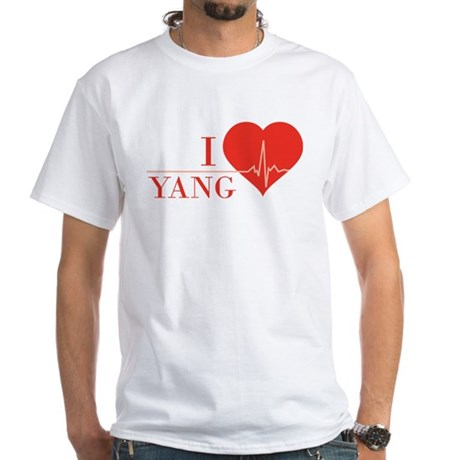 I love Yang White T-Shirt