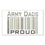 Military Army Dads Proud Sticker (Rectangular)