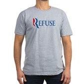 Anti-Romney Refuse Men's Fitted T-Shirt (dark)