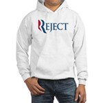 This anti-Romney design is a spoof of the Mitt Romney 2012 campaign logo. Instead of the candidate's name, we have the word REJECT. This November, voters need to REJECT Mitt Romney at the polls.