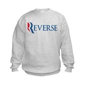 Anti-Romney Reverse Kids Sweatshirt