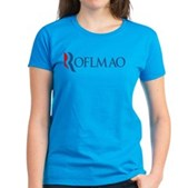 Anti-Romney ROFLMAO Women's Dark T-Shirt