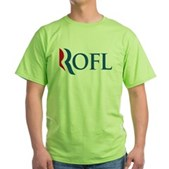 Anti-Romney ROFL Green T-Shirt