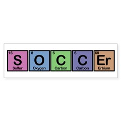 Soccer made of Elements Colors Sticker (Bumper)