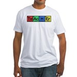 Teacher made of Elements colors Fitted T-Shirt