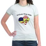 Welcome Home Babe Patriotic Jr. Ringer T-Shirt