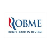 Anti-Romney Rob Me Robin Hood 35x21 Wall Decal