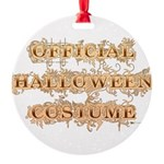 Official Halloween Costume Round Ornament