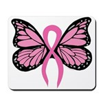 Breast Cancer Butterfly Mousepad