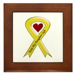 Keep My Daughter Safe Yellow Ribbon Framed Tile