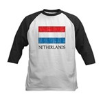 Netherlands Flag Kids Baseball Jersey