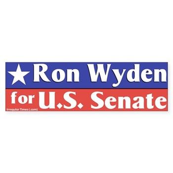 Re-Elect Ron Wyden to the U.S. Senate bumper sticker