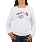 I Love Ska Women's Long Sleeve T-Shirt