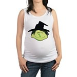 Happy Green Witch Maternity Tank Top