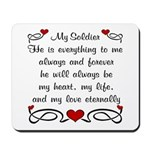 Coast Guard Poem of Love Mousepad