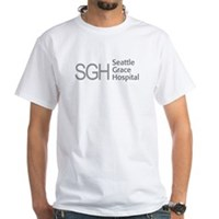 Grey SGH Logo White T-Shirt
