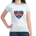 Vote Alan Keyes 2008 Political Jr. Ringer T-Shirt