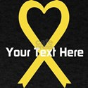 Personalized Yellow Ribbon Heart T-Shirt