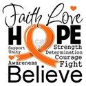 Faith Hope Believe Multiple Sclerosis Shirts
