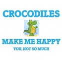 Crocodiles Make Me Happy T-Shirt