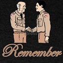remember young soldier shaking hands with old sold