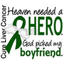 Liver Cancer HeavenNeededHero1 White T-Shirt