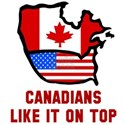 Canadians like it on top White T-Shirt