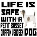 Life Is Safe With A Petit Basset Gri White T-Shirt