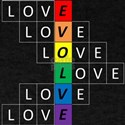 LovEvolve ~ LGBTQ black & white letters T-Shirt