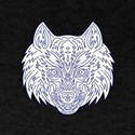 Grey Wolf Head Mono Line T-Shirt