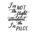 I am not the flight attendant. I am the pilot. T-S