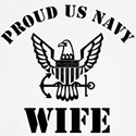proud us navy wife Long Sleeve T-Shirt