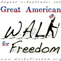 Great American Walk for Freed White T-Shirt