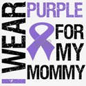 I Wear Purple Ribbon For My Mommy Shirts & Gifts