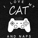 I Love My Cat Video Games And Naps T-Shirt