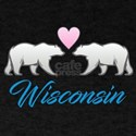 Wisconsin Polar Bear Heart T-Shirt
