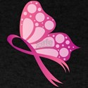 Pink Butterfly Ribbon Breast Cancer Suppor T-Shirt