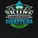 Skiing Makes Worries Disappear Athlete Gif T-Shirt