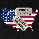 Proud Dad of 2 US Army Soldiers Dark T-Shirt