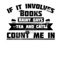 Books Rainy Days Tea and Cats Book Lover R T-Shirt