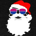 Santa Claus Bisexual Pride Flag Sunglasses T-Shirt