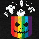 Halloween LGBT Rainbow Ghost Gay Pride LGB T-Shirt