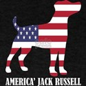 American Jack Russell Dog Flag Memorial Da T-Shirt