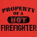 Property of a Hot Firefighter Dark T-Shirt