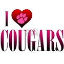 I Heart Cougars White T-Shirt