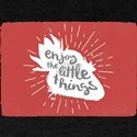 Enjoy the Little Things Strawberry quote T-Shirt