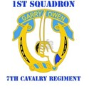 DUI - 1st Sqdrn - 7th Cavalry Regt with Text White